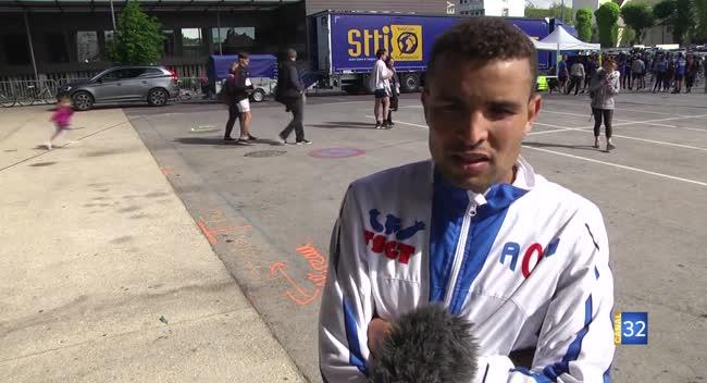 Canal 32 - Le Marocain Abdelilah El Maimouni remporte le semi-marathon de Troyes. Interview.