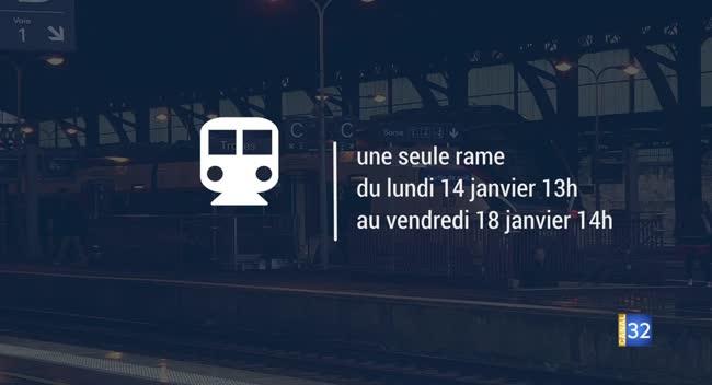 Canal 32 - SNCF : moins de places dans les trains de la Ligne 4 la semaine prochaine