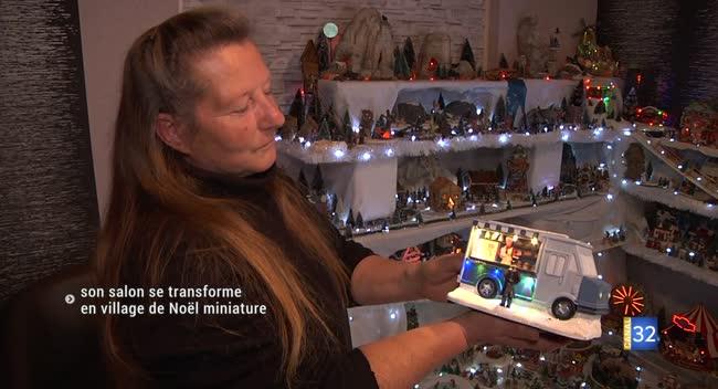 Canal 32 - À Troyes, Véronique transforme son salon en village de Noël