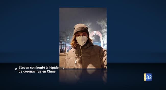 Canal 32 - Steven, un étudiant aubois confronté à l'épidémie de coronavirus en Chine