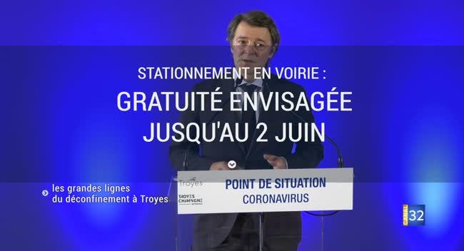 Canal 32 - Ecoles, stationnement, culture : Troyes se prépare au déconfinement