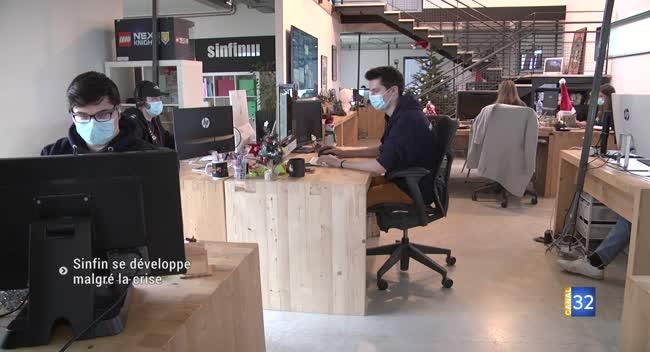 Canal 32 - La start-up auboise Sinfin se développe malgré la crise