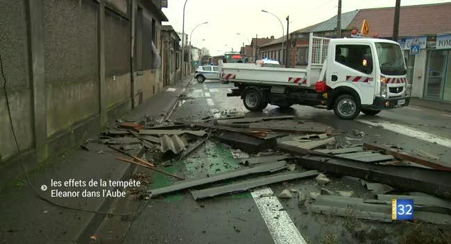 Canal 32 - Tempête Eleanor dans l'Aube : le point à 11H15