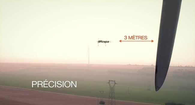 Canal 32 - SupAirvision : des drones pour la surveillance de l'état des éoliennes