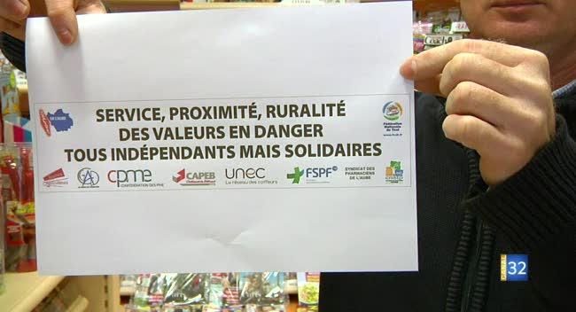 Canal 32 - Taxis, pharmaciens, buralistes... Une manifestation prévue à Troyes jeudi prochain