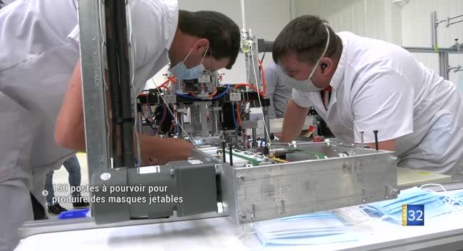 Canal 32 - Technopole de l'Aube : 150 postes à pourvoir pour produire des masques jetables