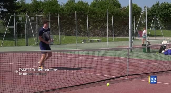 Canal 32 - Tennis : l'ASPTT Troyes de retour au niveau National