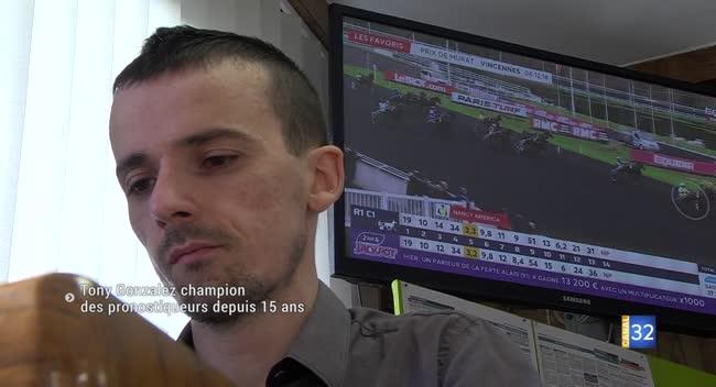 Canal 32 - Tony Gonzalez, champion des pronostiqueurs hippiques
