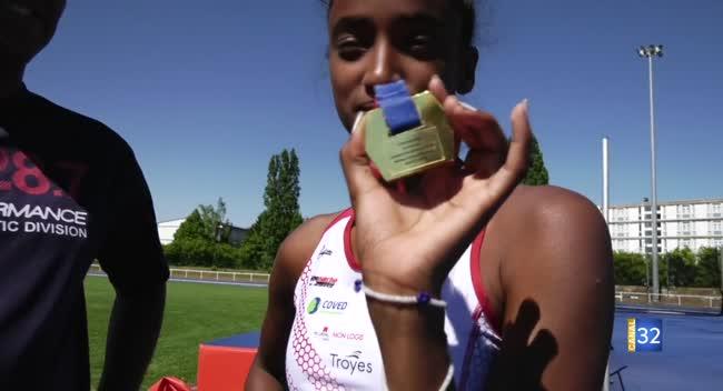 Canal 32 - Saut en hauteur : la Troyenne Aïcha Moumin championne de France juniors !