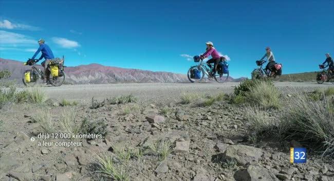 Canal 32 - Tour du monde à vélo : déjà 12000 km au compteur des cyclistes de Ridearth