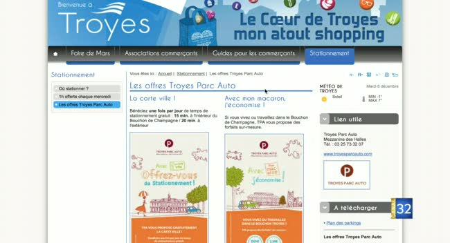 Canal 32 - TPA - zoom sur le site Internet commerce-troyes.fr
