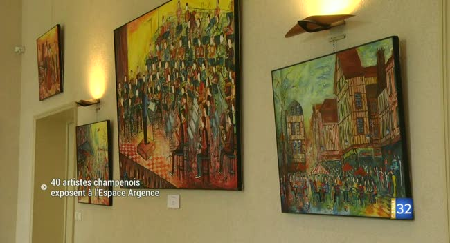 Canal 32 - Troyes : 40 artistes champenois s'exposent à l'Espace Argence