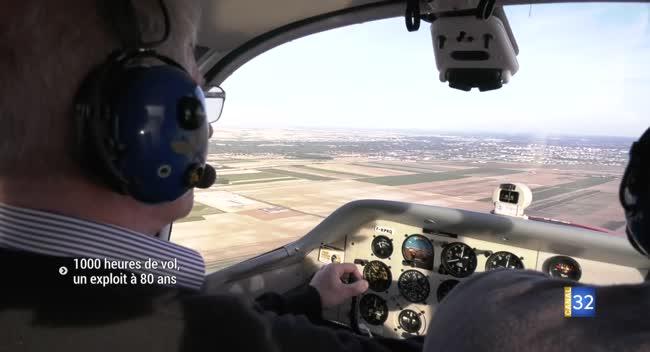 Canal 32 - Troyes : à 80 ans, Pierre fête ses 1000 heures de vol