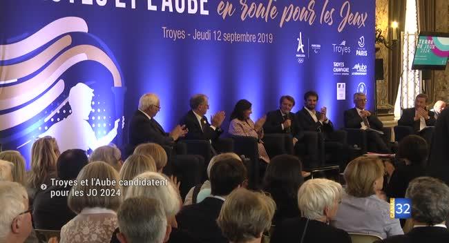 Canal 32 - Troyes et l'Aube veulent aussi accueillir les Jeux Olympiques de 2024 à Paris.