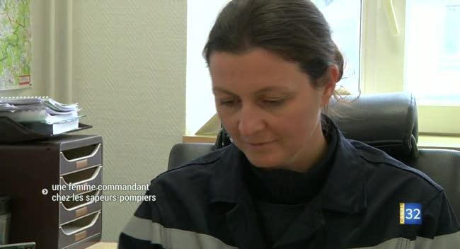 Canal 32 - Céline Guilbert, première femme commandant des pompiers de l'Aube