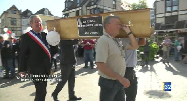 Canal 32 - Troyes : les bailleurs sociaux dans la rue, inquiets face à la baisse des APL