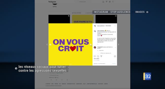 Canal 32 - Troyes : les réseaux sociaux pour soutenir les victimes d'agressions sexuelles