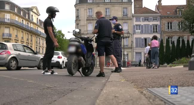 Canal 32 - Troyes : polices municipale et nationale s'associent pour contrôler les deux-roues