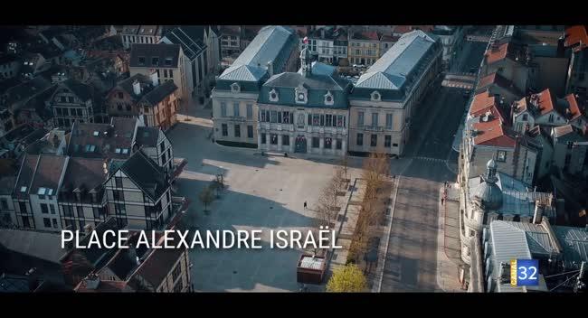 Canal 32 - DRONE : les rues de Troyes désertes après le confinement
