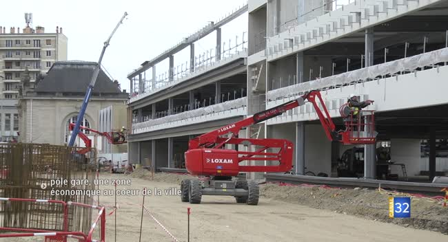 Canal 32 - Troyes : un parking de 400 places en construction dans le quartier gare
