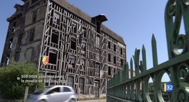 Canal 32 - 500 000 € pour restaurer le moulin de Bar-sur-Seine !
