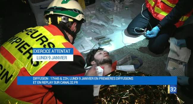 Canal 32 - Un document exceptionnel sur les coulisses de l'exercice attentat