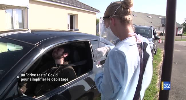 Canal 32 - Méry-sur-Seine : un drive tests Covid pour simplifier la procédure