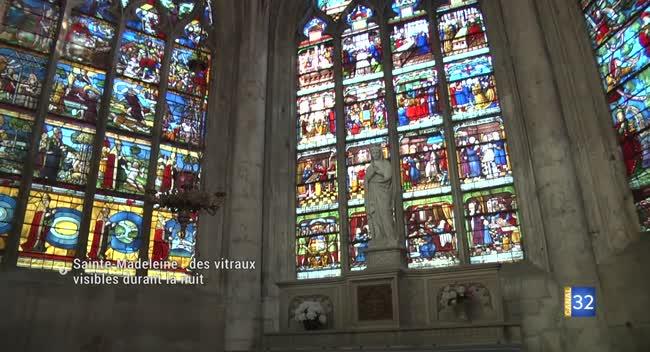 Canal 32 - Un éclairage nocturne pour redécouvrir les vitraux de l'église Sainte-Madeleine
