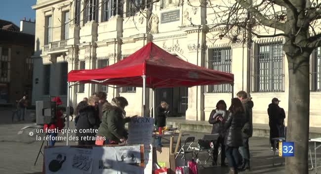 Canal 32 - Troyes : un festi-grève pour élargir la mobilisation à tous les citoyens