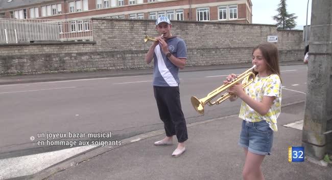 Canal 32 - Saint-André-les-Vergers : un joyeux bazar musical en hommage aux soignants
