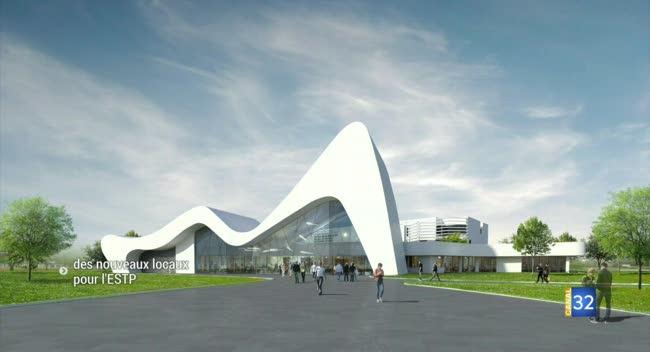 Canal 32 - Un nouveau bâtiment pour les ingénieurs de l'ESTP