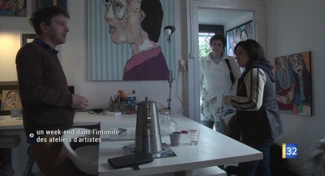 Canal 32 - Un week-end pour entrer dans l'intimité des ateliers d'artistes. Reportage avec Maxime Frairot.