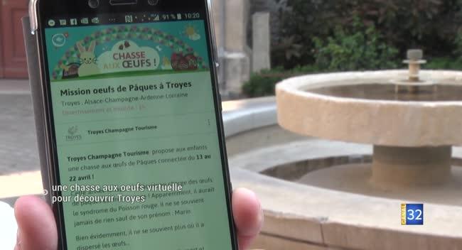 Canal 32 - Une chasse aux oeufs virtuelle pour découvrir Troyes
