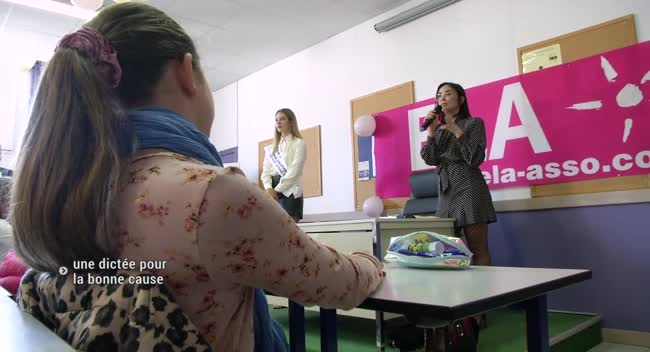 Canal 32 - Dictée Ela : Miss Aube et Agathe Auproux, professeurs d'un jour au collège Saint-Pierre