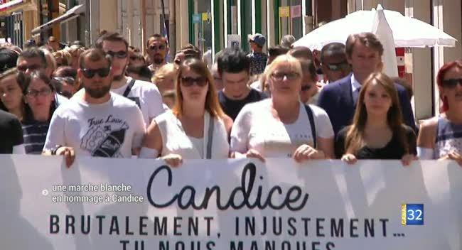 Canal 32 - Une marche blanche, dernier hommage à Candice (Reportage complet)