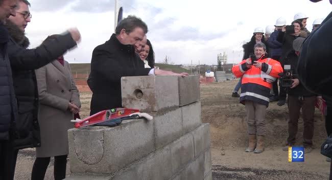 Canal 32 - Le futur bâtiment troyen de l'ESTP sort de terre (300 élèves d'ici 3 ans).