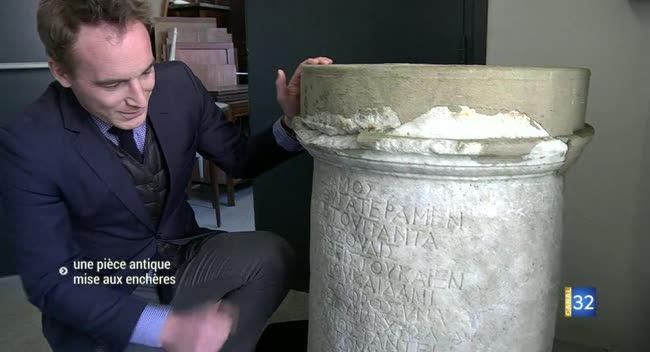 Canal 32 - Une stèle antique découverte dans l'Aube mise aux enchères
