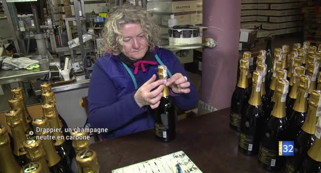 Canal 32 - Urville : Drappier, la première maison de champagne neutre en carbone