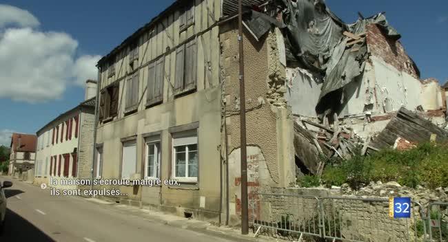 Canal 32 - Vitry-le-Croisé : leur maison s'écroule malgré eux, ils sont expulsés
