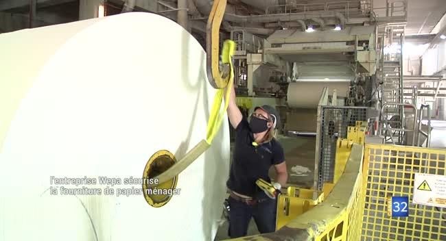Canal 32 - Torvilliers : Wepa sécurise la fabrication de papier toilette, essuie-tout et mouchoir