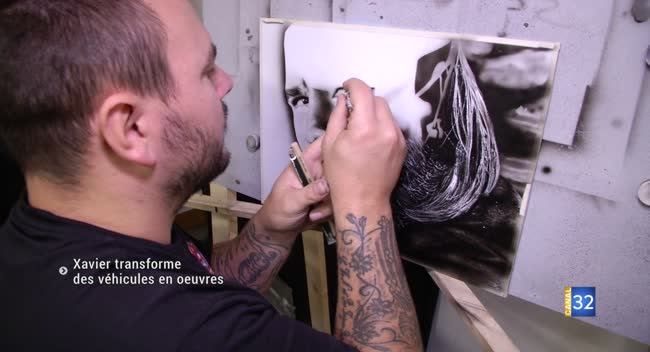 Canal 32 - Xavier Sieffert restaure et personnalise les véhicules