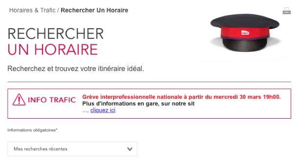 Emission Grève : les prévisions SNCF pour jeudi 31 mars
