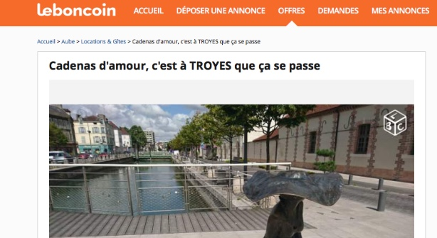 Emission Cadenas d'amour : un Troyen assure la promotion de sa ville via les petites annonces !