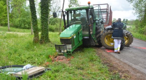 Emission Essoyes : une collision entre une voiture et un tracteur